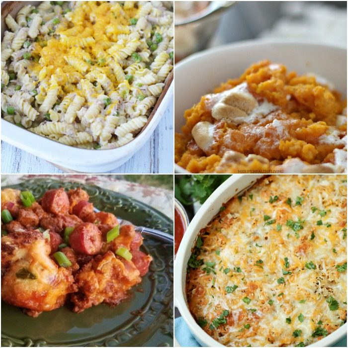 Collage image of ww freestyle casserole recipes